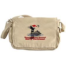 Christmas Loon Messenger Bag