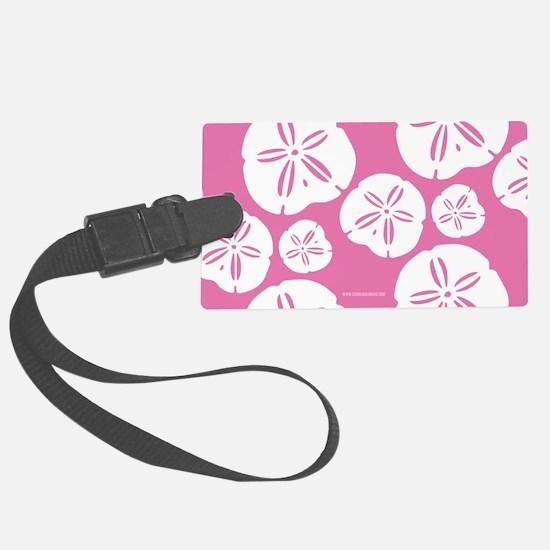 Sandollar Beach Summer Pink Luggage Tag