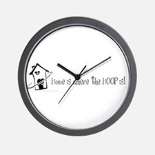 Home is where the hoop is Wall Clock