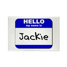 hello my name is jackie Rectangle Magnet