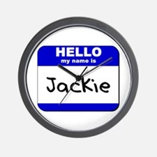 hello my name is jackie  Wall Clock