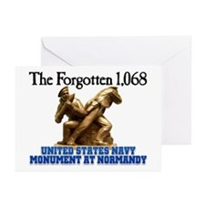 Normandy Navy Monument Greeting Cards (Package of
