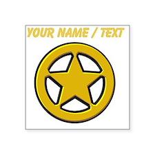 Sherriff Badge Sticker