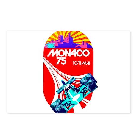 Vintage 1975 Monaco Grand Prix Race Poster Postcar