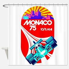 Vintage 1975 Monaco Grand Prix Race Poster Shower