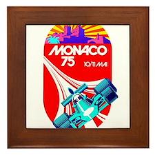 Vintage 1975 Monaco Grand Prix Race Poster Framed