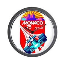 Vintage 1975 Monaco Grand Prix Race Poster Wall Cl
