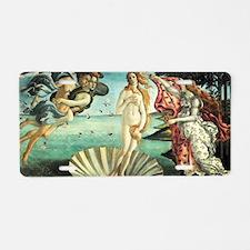 The Birth of Venus by Sandr Aluminum License Plate