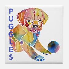 Puggles Tile Coaster