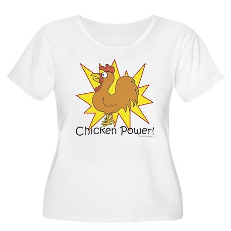 Chicken Power Women's Plus Size Scoop Neck T-Shirt