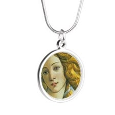 Venus * Sandro Botticelli Silver Round Necklace