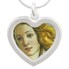 Venus * Sandro Botticelli Silver Heart Necklace