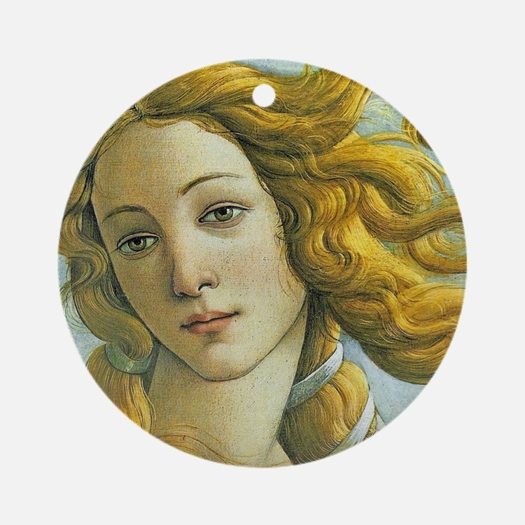 Venus * Sandro Botticelli Round Ornament