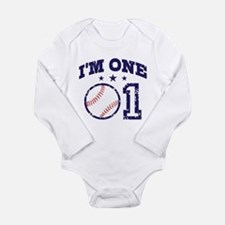 Cute 1 Year Old Baseball Body Suit