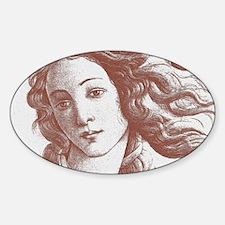 Venus * Sandro Botticelli Sticker (Oval)