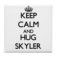Keep Calm and HUG Skyler Tile Coaster