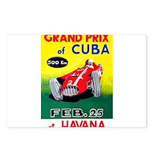 Vintage 1958 Cuban Grand Prix Race Poster Postcard