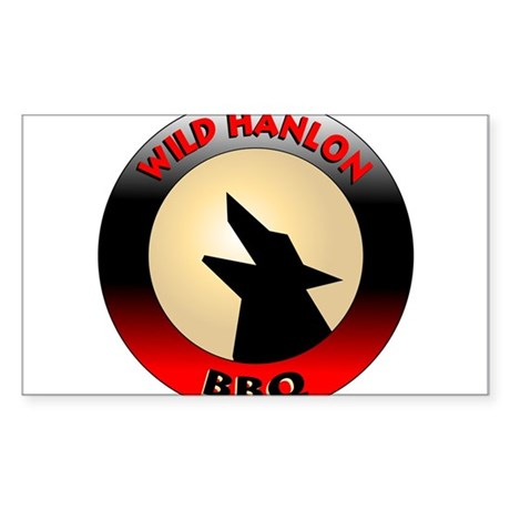 Wild Hanlon BBQ Rectangle Sticker