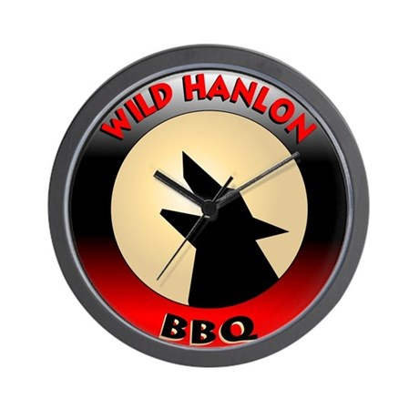 Wild Hanlon BBQ Wall Clock
