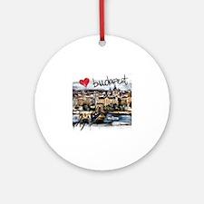 Funny Budapest Round Ornament