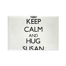 Keep Calm and HUG Susan Magnets