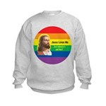 JESUS LOVE ME Kids Sweatshirt