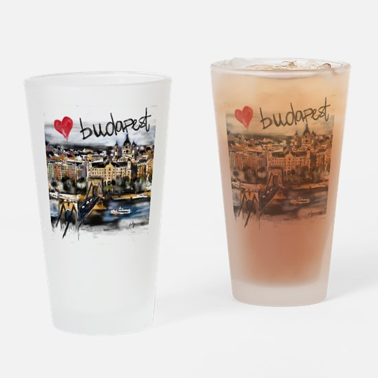 Unique Budapest Drinking Glass