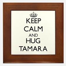 Keep Calm and HUG Tamara Framed Tile
