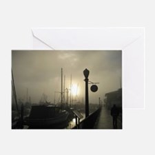 Santa Barbara Misty Morning at the P Greeting Card