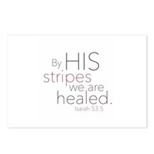 By HIS stripes we are healed. Postcards (Package o