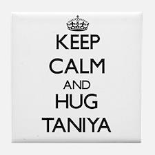 Keep Calm and HUG Taniya Tile Coaster