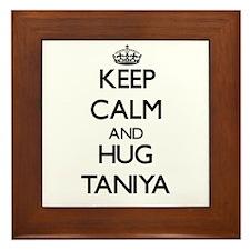 Keep Calm and HUG Taniya Framed Tile