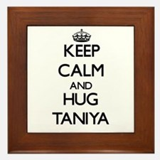 Keep Calm and HUG Taniya Framed Tile
