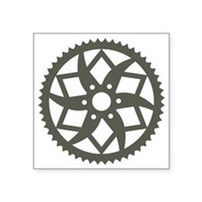 "Bike chainring Square Sticker 3"" x 3"""