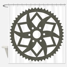 Bike chainring Shower Curtain