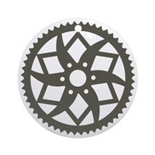 Bike chainring Round Ornament
