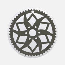 Bike chainring Round Ornament
