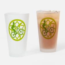 Biker chainring Drinking Glass