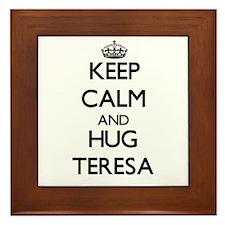 Keep Calm and HUG Teresa Framed Tile