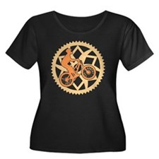 Biker ch Women's Plus Size Dark Scoop Neck T-Shirt