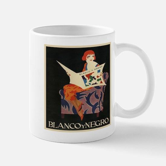 Blanco Y Negro, Vintage Poster Mugs