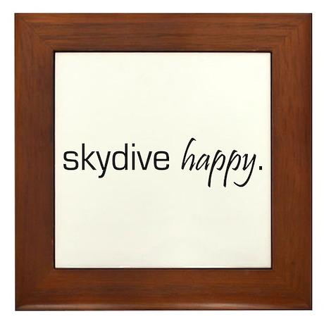 Skydive Happy Framed Tile