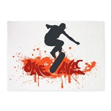 One love skateboarding 5'x7'Area Rug