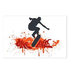 One love skateboarding Postcards (Package of 8)