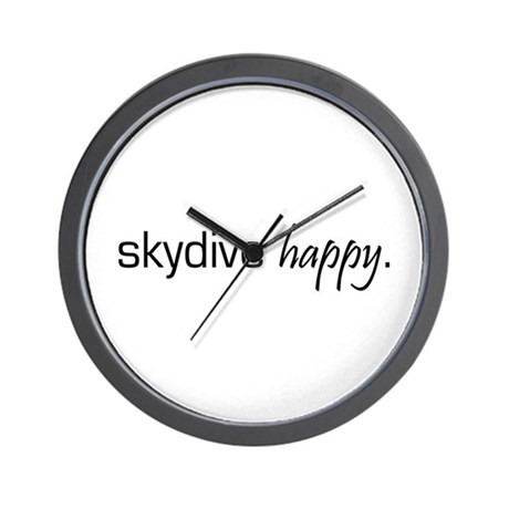 Skydive Happy Wall Clock