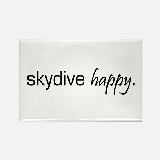 Skydive Happy Rectangle Magnet