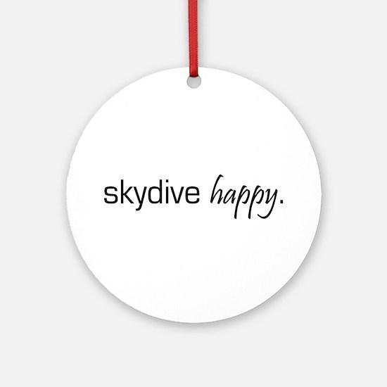 Skydive Happy Ornament (Round)