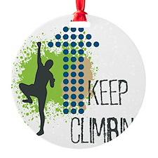 Keep Climbing Ornament
