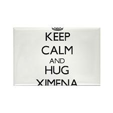 Keep Calm and HUG Ximena Magnets