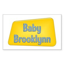 Baby Brooklynn Rectangle Decal